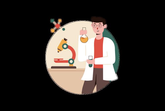 Laboratory Test Illustration