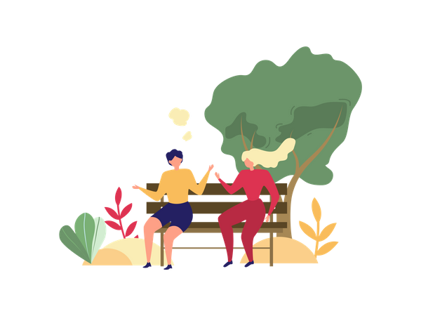 Ladies Chatting Illustration