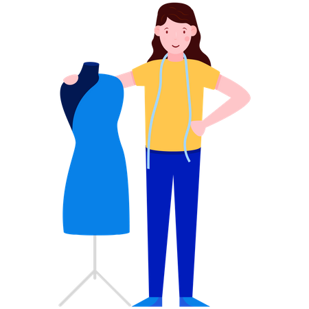 Ladies Fashion Designer Illustration