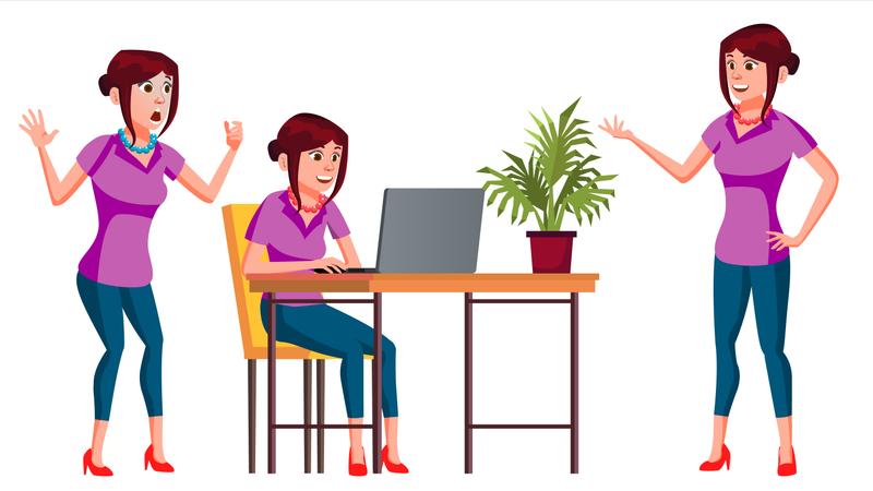 Lady Employee Illustration
