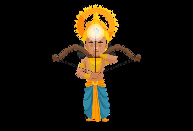 Lakshmana preparing for fight Illustration