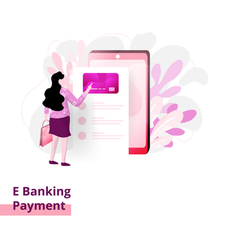 Landing Banking Payment page Illustration