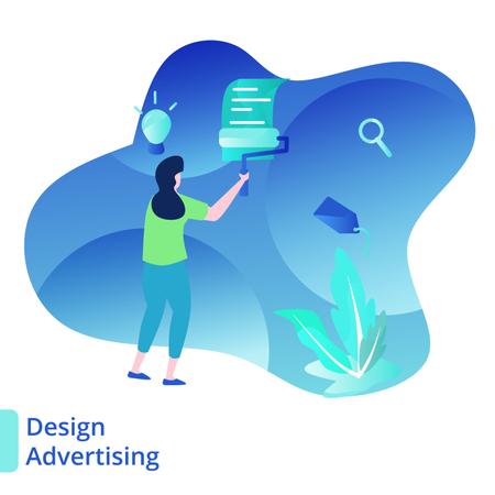 Landing Page Design Advertising Illustration