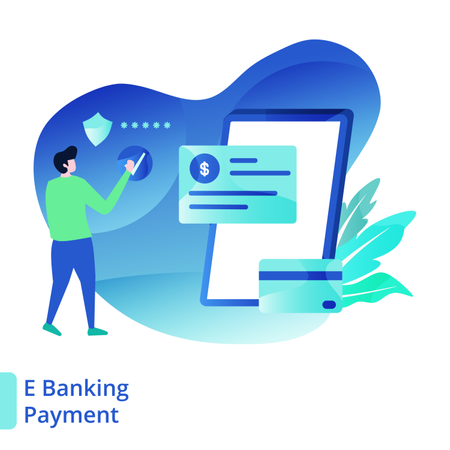 Landing Page E Banking Payment Illustration