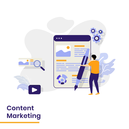 Landing Page for Content Marketing Illustration