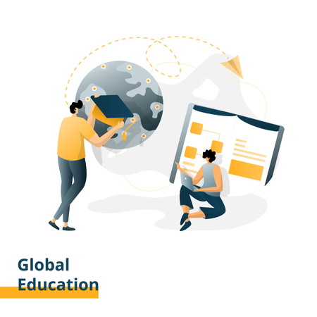 Landing page for Global Education Illustration