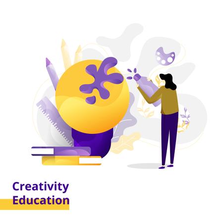 Landing page Illustration Creativity Education Illustration