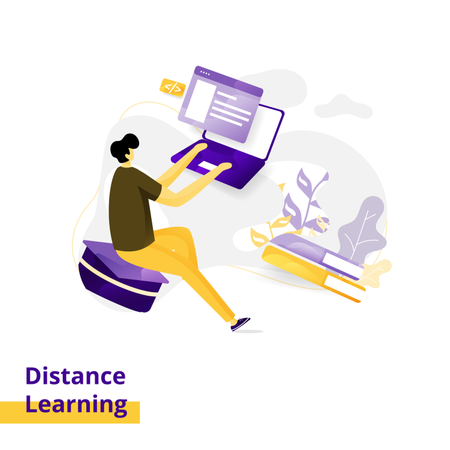 Landing page Illustration Distance Learning Illustration