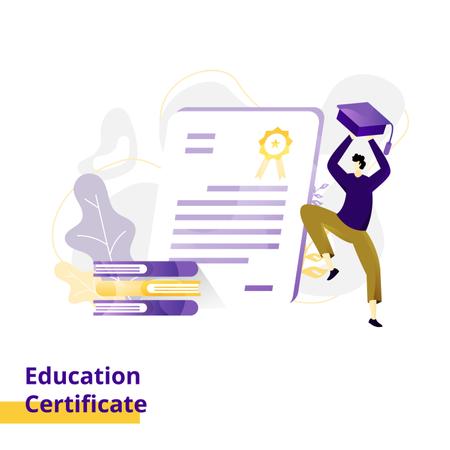 Landing page Illustration Education Certificate Illustration