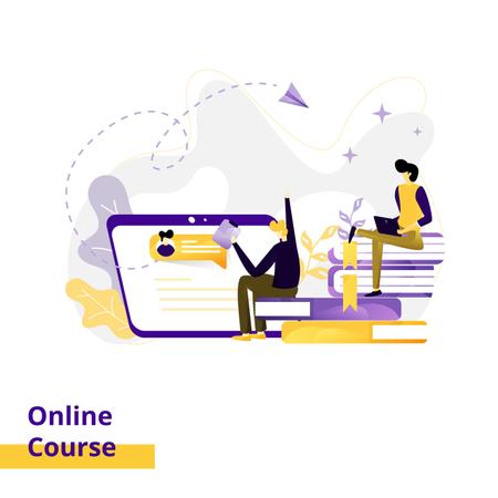 Landing page Illustration Online Course Illustration