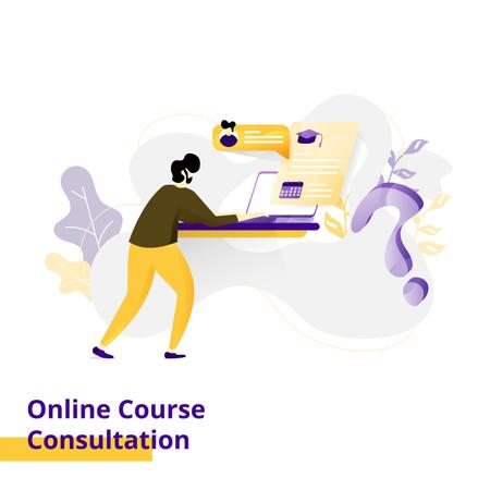 Landing page Illustration Online Course Consultation Illustration