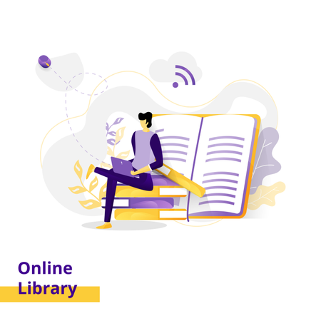 Landing page Illustration Online Library Illustration