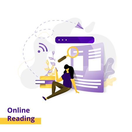 Landing page Illustration Online Reading Illustration