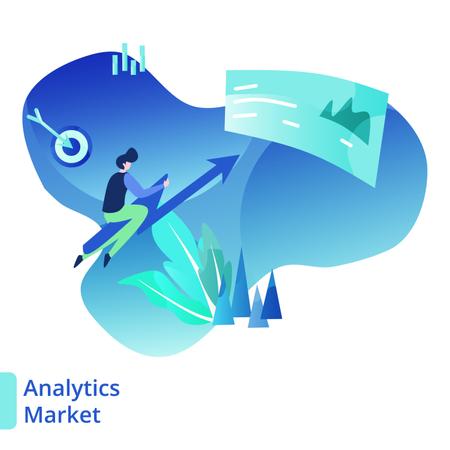 Landing Page Market Analytic Illustration