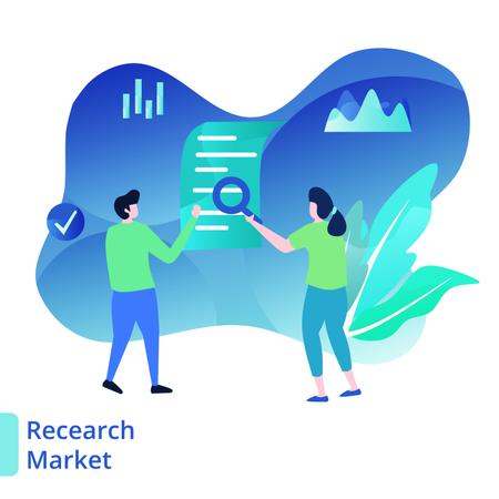 Landing Page Market Research Illustration