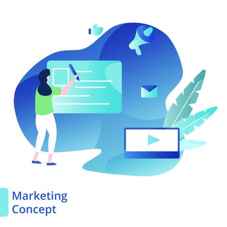 Landing Page Marketing Concept Illustration