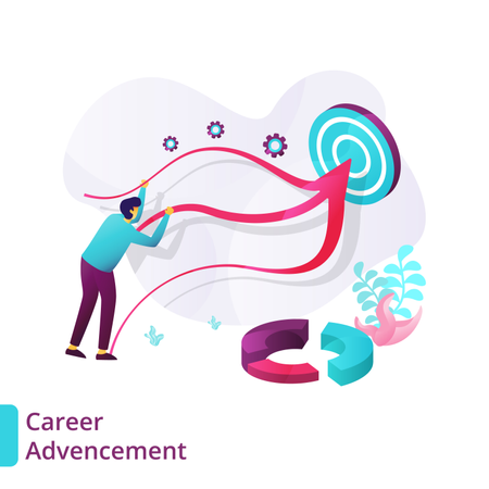 Landing Page of Career Advancement Illustration