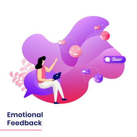 Landing Page of Emotional Feedback Illustration