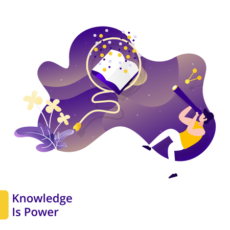 Landing Page of Knowledge Is Power Illustration