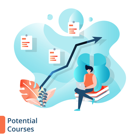 Landing Page of Potential Courses Illustration