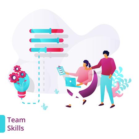 Landing Page of Team Skills Illustration