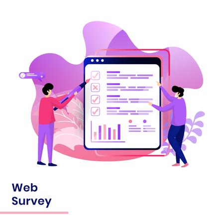 Landing Page of Web Survey Illustration