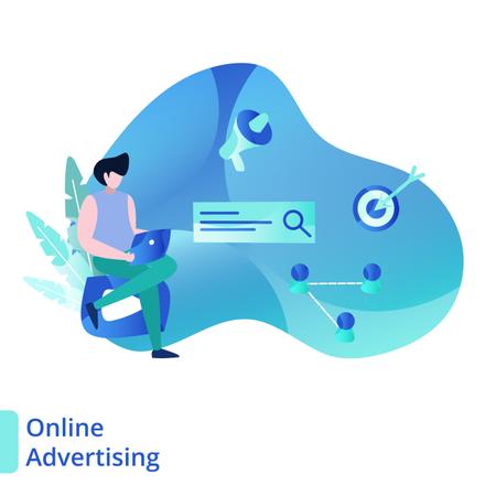 Landing Page Online Advertising Illustration