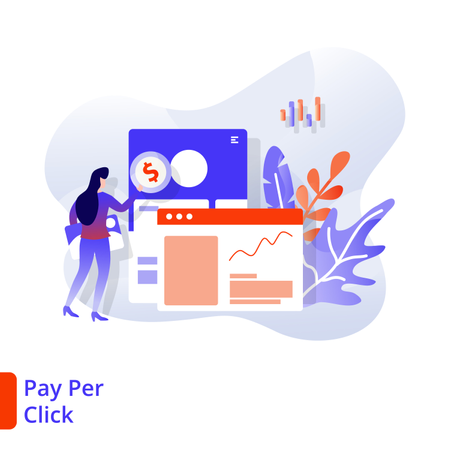 Landing Page Pay Per Click Illustration