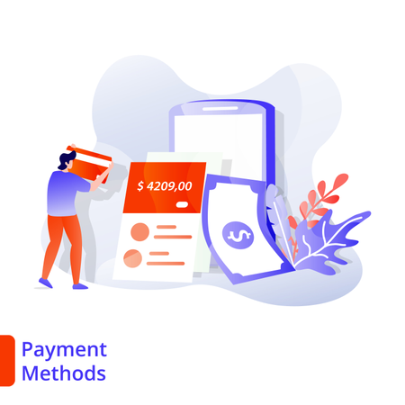 Landing Page Payment Methods Illustration