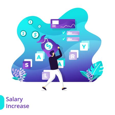 Landing Page Salary Increase Illustration
