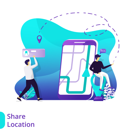 Landing Page Share location Illustration