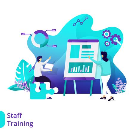 Landing Page Staff Training Illustration
