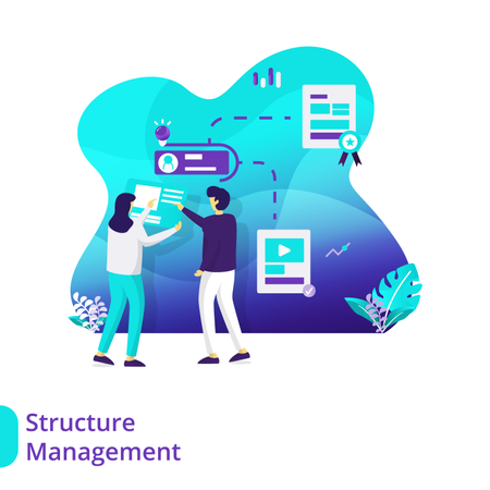 Landing Page Structure Management Illustration