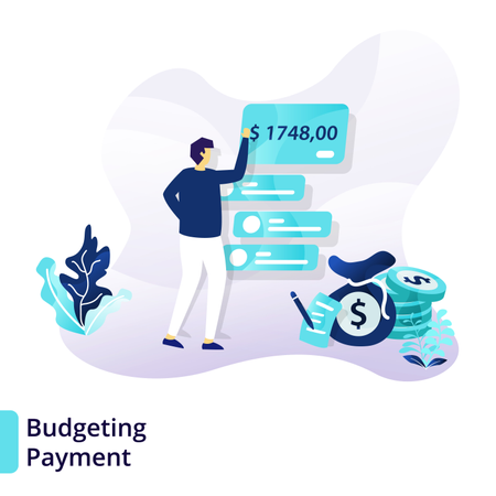 Landing page template of Budgeting Payment Illustration