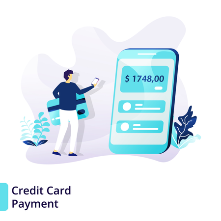 Landing page template of Credit Card Payment Illustration