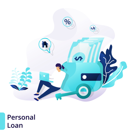 Landing page template of Personal Loan Illustration