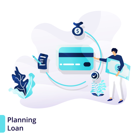 Landing page template of Planning Loan Illustration