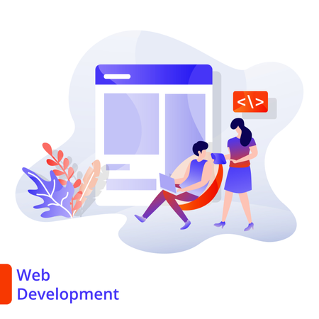 Landing Page Web Development Illustration