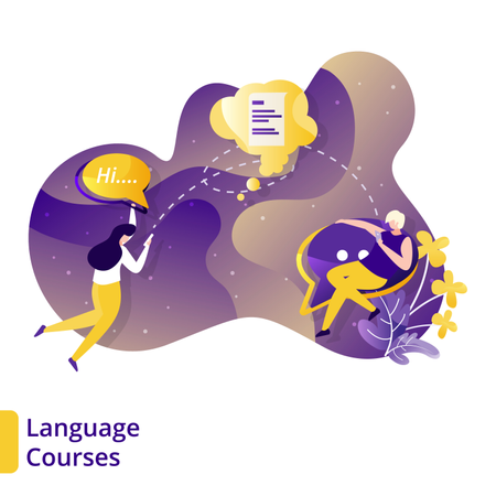 Language Courses Illustration
