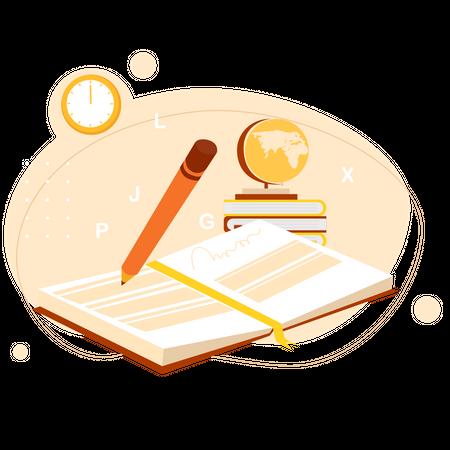 Language study Illustration