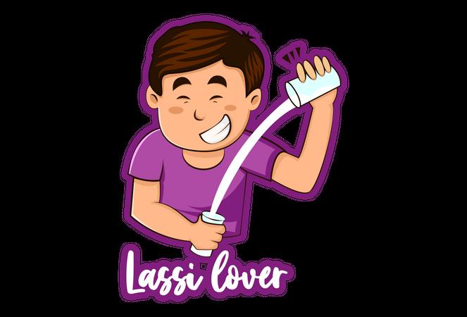 Lassi Lover Illustration