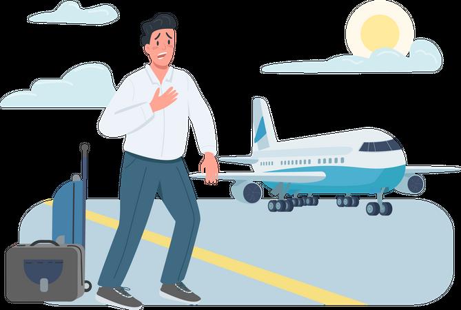 Late plane passenger Illustration