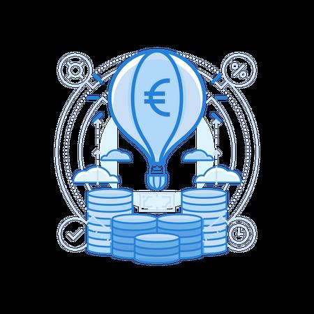 Launch Euro Illustration