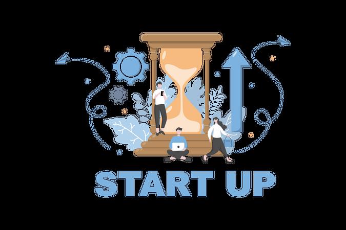 Launch Startup Illustration