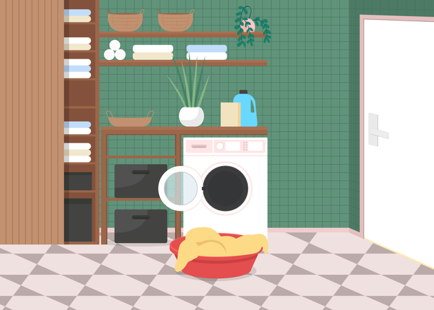 Laundry at home Illustration