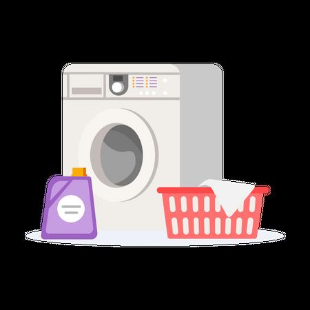 Laundry machine Illustration