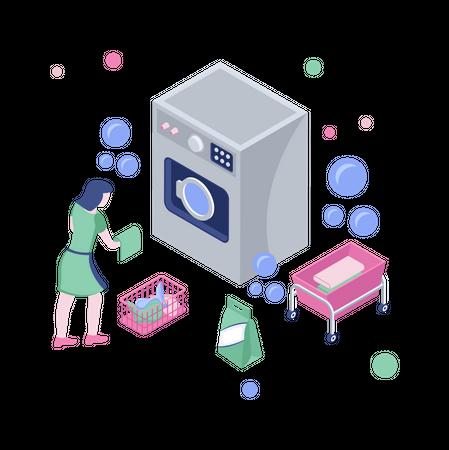Laundry service Illustration