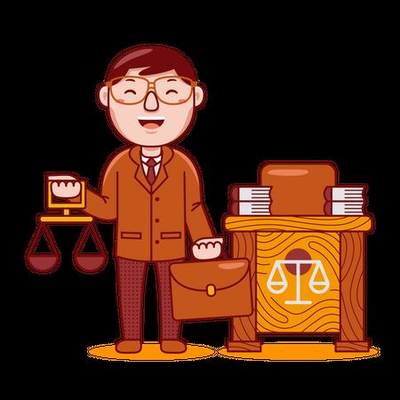 Lawyer Illustration