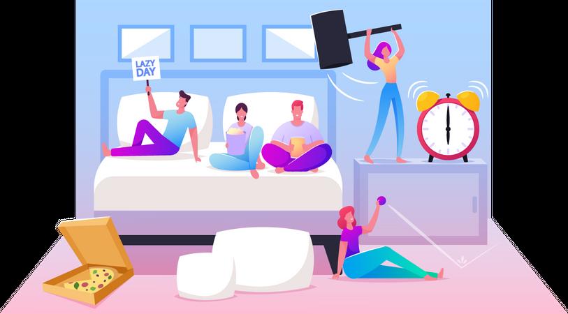 Lazy Weekend Illustration