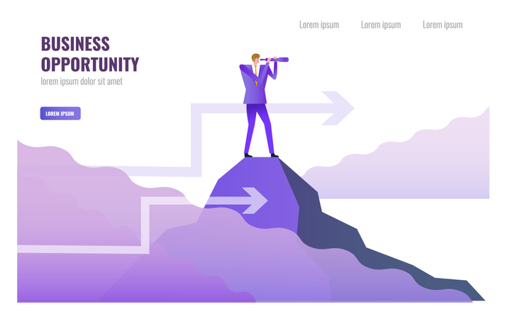 Leadership and Business opportunity concept Illustration